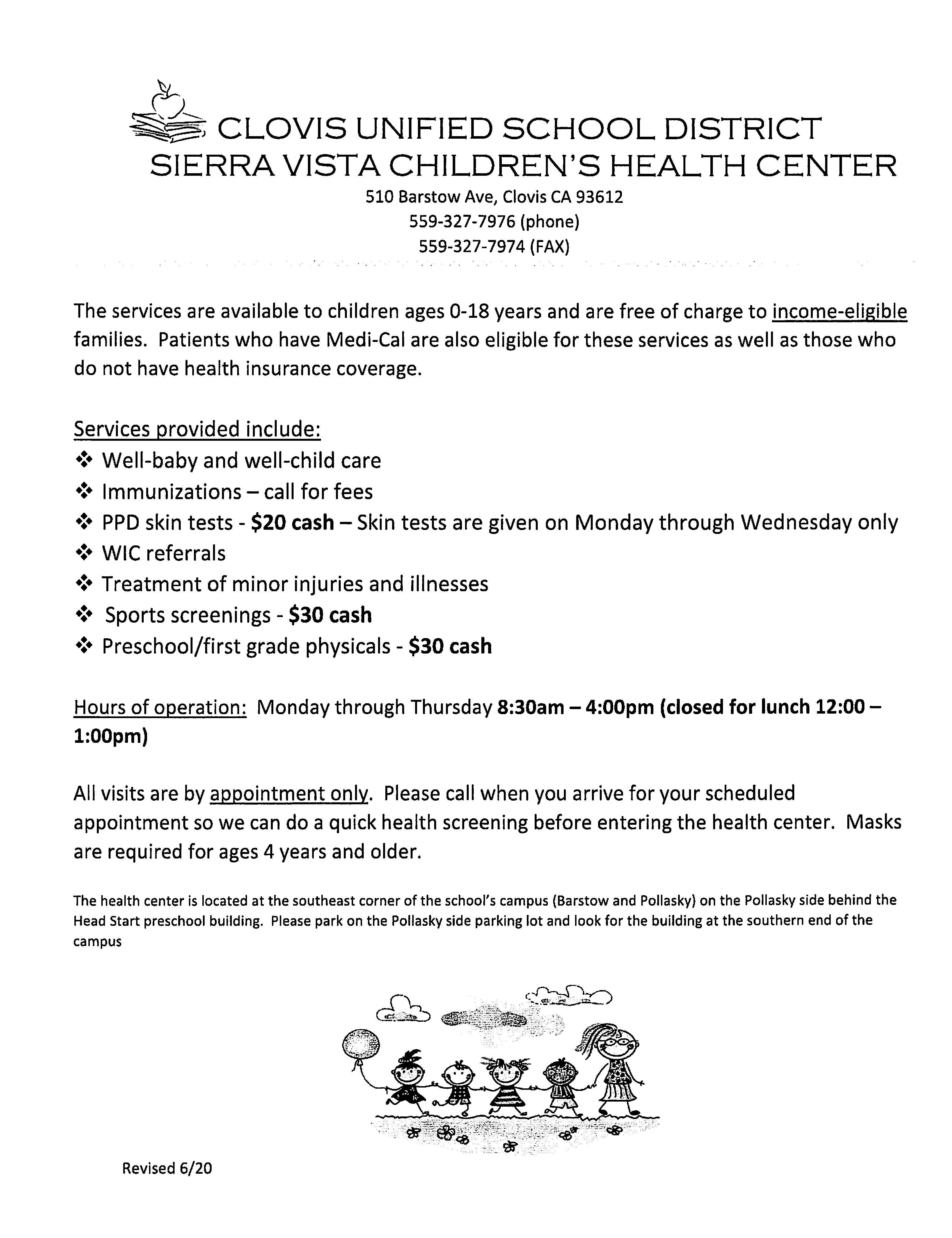 Sierra Vista Children's Health Center