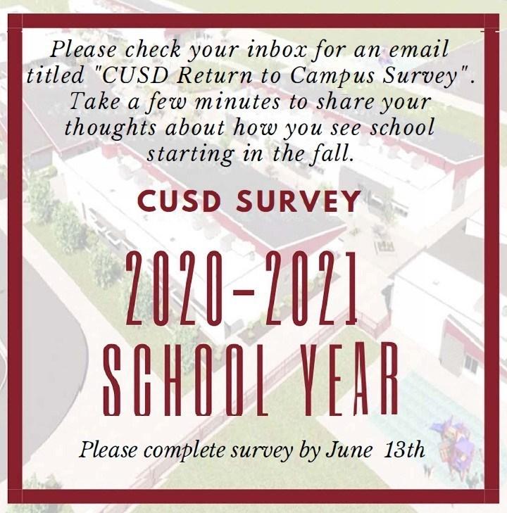 2020-21 Return to School Survey