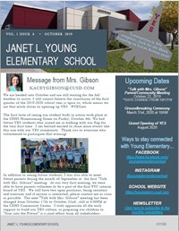 Screenshot of the YES October Newsletter